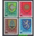 Szwajcaria 1980 Mi 1187-1190 Czyste **