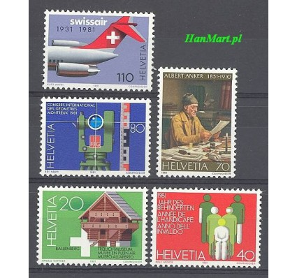 Znaczek Szwajcaria 1981 Mi 1191-1195 Czyste **