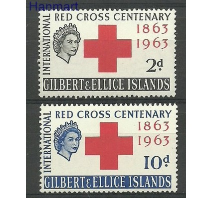 Znaczek Gilbert Ellice Islands 1963 Mi 75-76 Czyste **