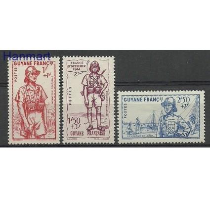 Znaczek Gujana 1941 Mi 186-188 Z podlepką *