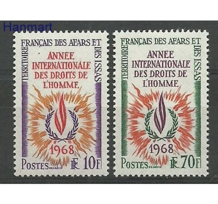Znaczek Dżibuti 1968 Mi 16-17 Czyste **