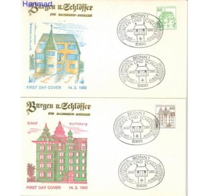 Znaczek Niemcy 1980 FDC