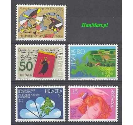 Znaczek Szwajcaria 1988 Mi 1364-1368 Czyste **