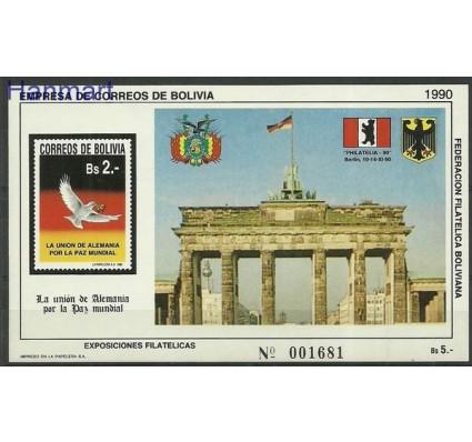 Znaczek Boliwia 1990 Mi bl 191I Czyste **