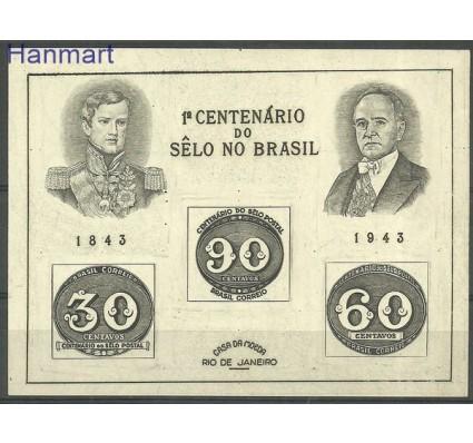 Znaczek Brazylia 1943 Mi bl 6 Czyste **
