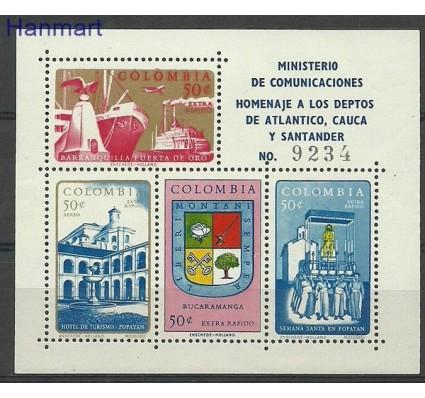 Znaczek Kolumbia 1961 Mi bl 24 Czyste **