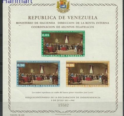 Znaczek Wenezuela 1962 Mi bl 6 Czyste **