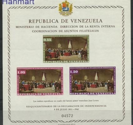 Znaczek Wenezuela 1962 Mi bl 7 Czyste **