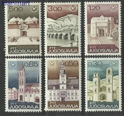 Znaczek Jugosławia 1967 Mi 1222-1227 Czyste **