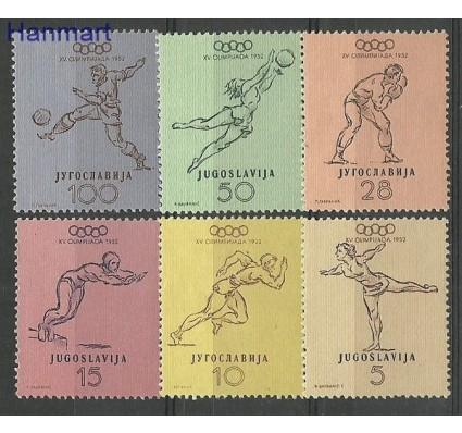 Znaczek Jugosławia 1952 Mi 698-703 Z podlepką *