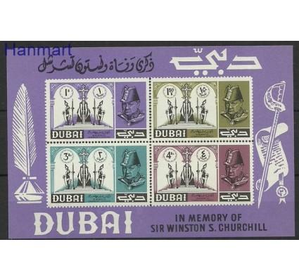 Znaczek Dubaj 1966 Mi bl 35 Czyste **