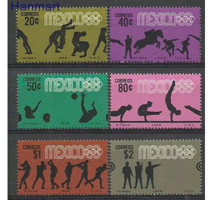 Znaczek Meksyk 1968 Mi 1261-1266 Czyste **