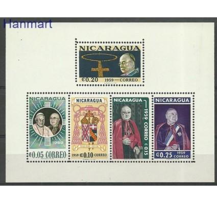 Znaczek Nikaragua 1959 Mi bl 50 Czyste **