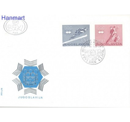 Znaczek Jugosławia 1976 Mi 1630-1631 FDC