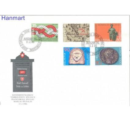 Znaczek Szwajcaria 1986 Mi 1308-1312 FDC