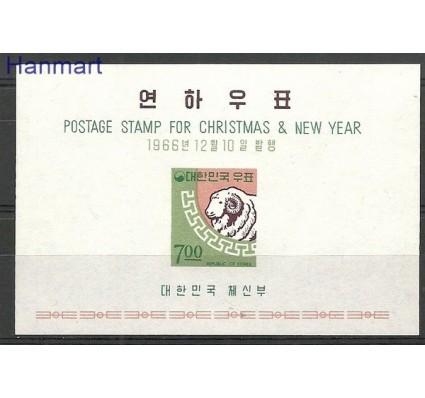 Znaczek Korea Południowa 1966 Mi bl 242 Czyste **