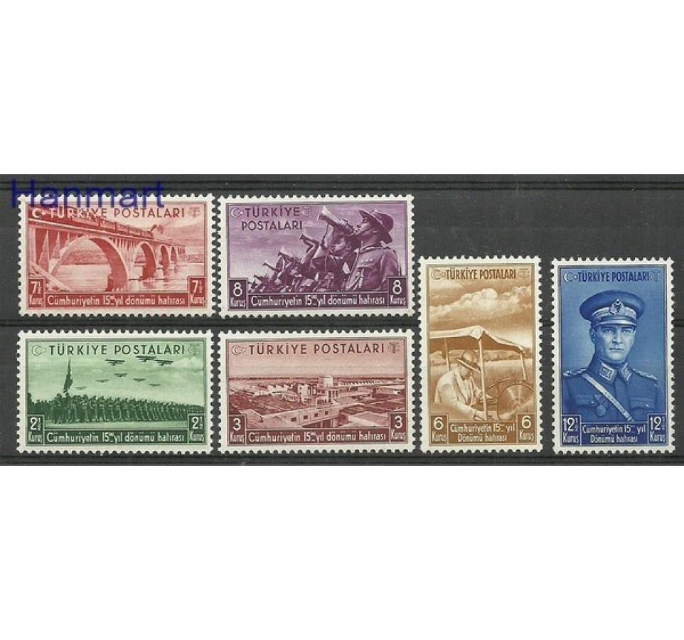 Turcja 1938 Mi 1029-1034 Z podlepką *
