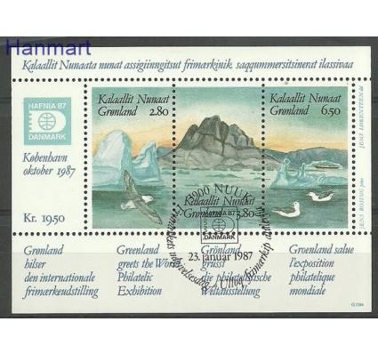 Znaczek Grenlandia 1987 Mi bl 1 Stemplowane