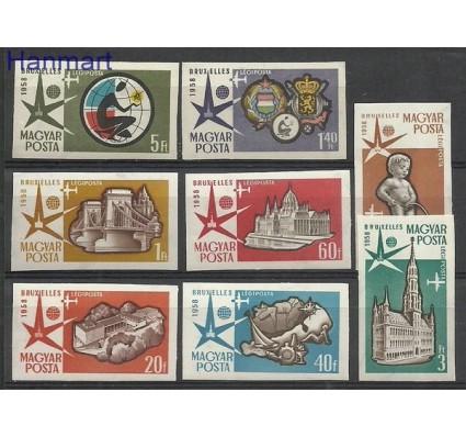 Znaczek Węgry 1958 Mi 1519-1526B Czyste **