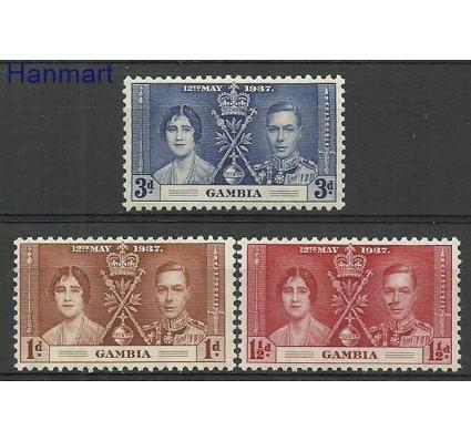 Znaczek Gambia 1937 Mi 120-122 Czyste **
