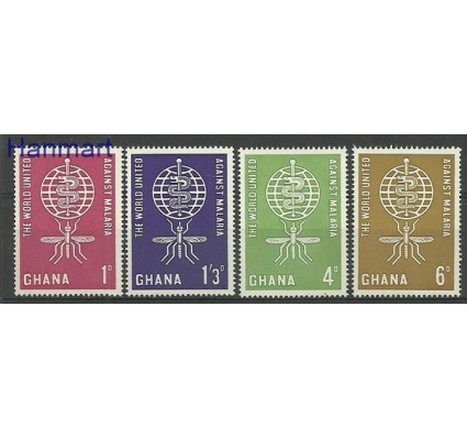 Znaczek Ghana 1962 Mi 134-137 Czyste **