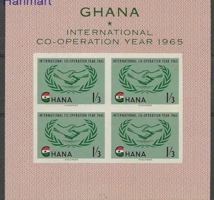 Znaczek Ghana 1965 Mi bl 16 Czyste **