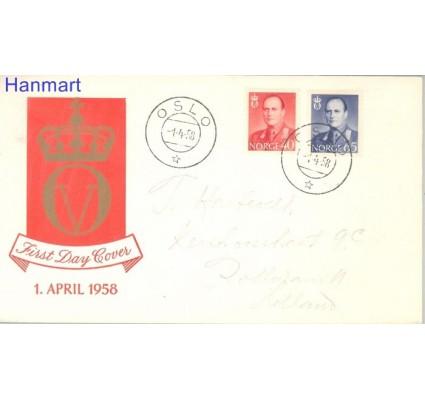 Znaczek Norwegia 1958 FDC