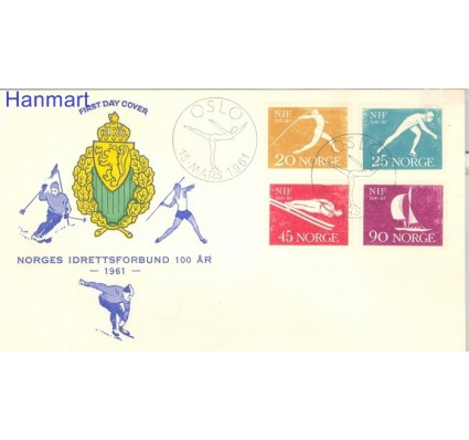 Znaczek Norwegia 1961 FDC