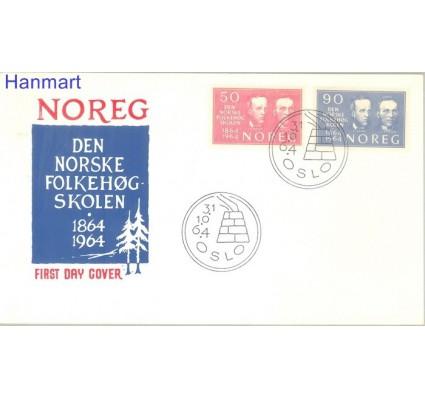 Znaczek Norwegia 1964 Mi 522-523 FDC