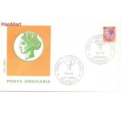 Znaczek Włochy 1974 FDC