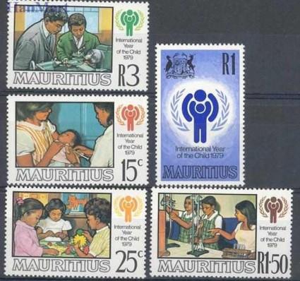 Znaczek Mauritius 1979 Mi 484-488 Czyste **