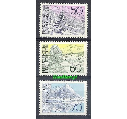 Znaczek Liechtenstein 1973 Mi 584-586 Czyste **