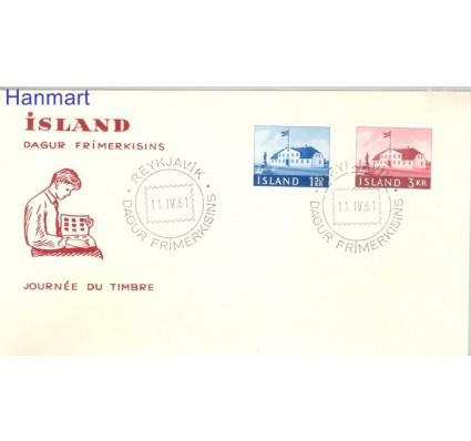 Znaczek Islandia 1961 FDC