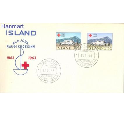 Znaczek Islandia 1963 Mi 375-376 FDC