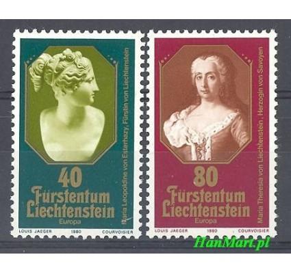 Znaczek Liechtenstein 1980 Mi 741-742 Czyste **
