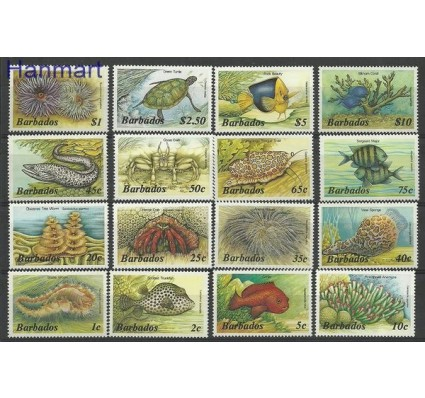 Znaczek Barbados 1985 Mi 617-632 Czyste **