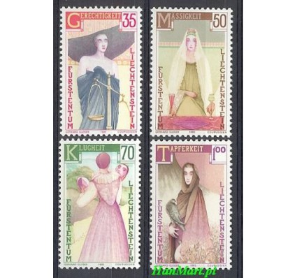 Znaczek Liechtenstein 1985 Mi 871-874 Czyste **