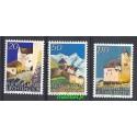 Liechtenstein 1986 Mi 896-898 Czyste **