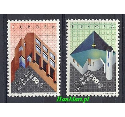 Liechtenstein 1987 Mi 916-917 Czyste **