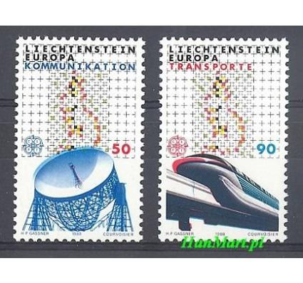 Znaczek Liechtenstein 1988 Mi 937-938 Czyste **