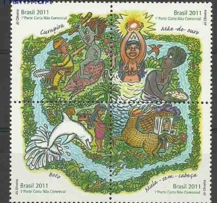 Znaczek Brazylia 2011 Mi 3906-3909 Czyste **