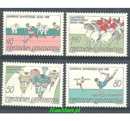 Znaczek Liechtenstein 1988 Mi 947-950 Czyste **
