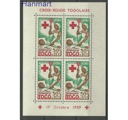Znaczek Togo 1959 Mi bl 4 Czyste **