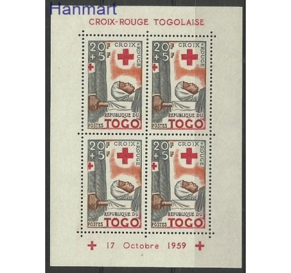 Znaczek Togo 1959 Mi bl 2 Czyste **