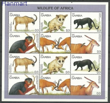Znaczek Gambia 1996 Mi 2331-2336 Czyste **