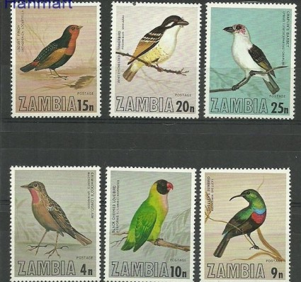 Znaczek Zambia 1977 Mi 180-185 Czyste **