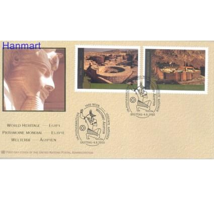 Znaczek Narody Zjednoczone Wiedeń 2005 Mi 443-444 FDC