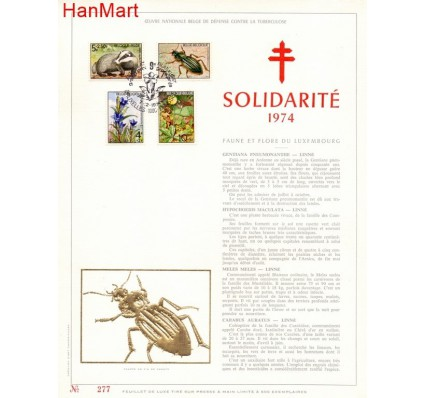Znaczek Belgia 1974 Mi 1790-1793 Pierwszy dzień wydania