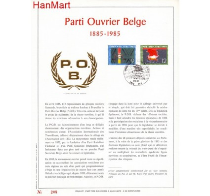 Znaczek Belgia 1985 Mi 2219-2220 Pierwszy dzień wydania