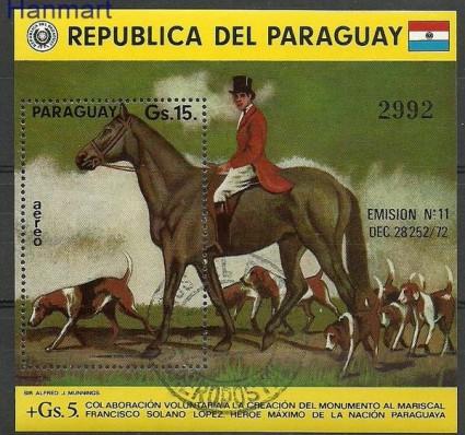 Znaczek Paragwaj 1975 Mi bl 243 Stemplowane